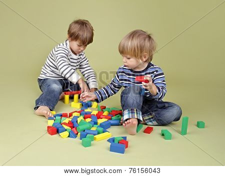 Kids, Children Sharing And Playing Together