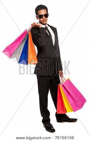 Cool Dude Young Man Shopping