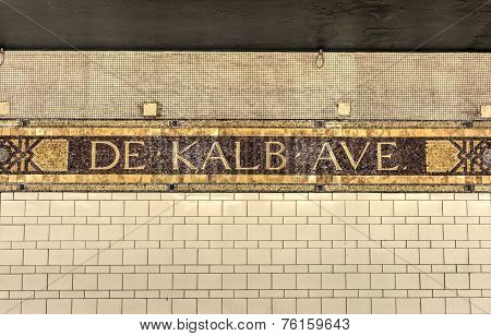 Dekalb Subway Station, New York