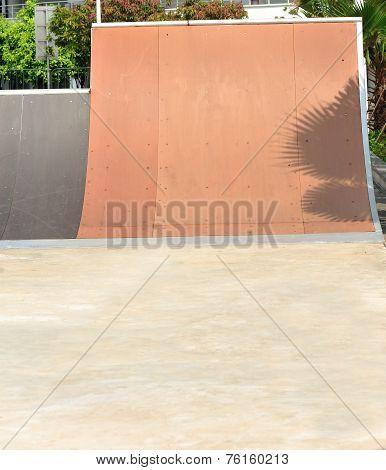 modern skatepark