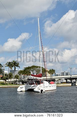 Catamaran In Fort Luaderdale, Fl