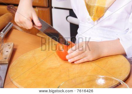 Cook Hands Handles Tomato
