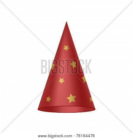 Red sorcerer hat with golden stars