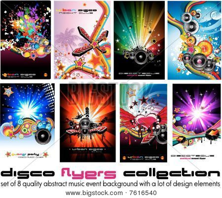 Colorful Discoteque Flyer Background