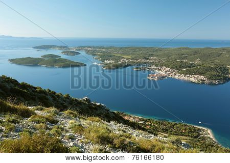 Korcula in the Adriatic sea in Croatia