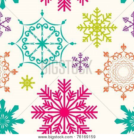 Abstract Beauty Christmas and New Year Seamless Background. Vect