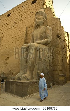 Pharaonic Sculpture At Luxor Temple In Egypt