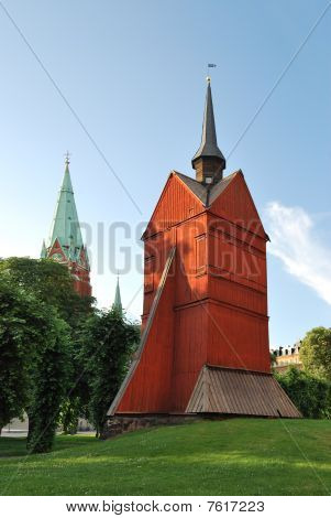 Stockholm. The Old Wooden Church
