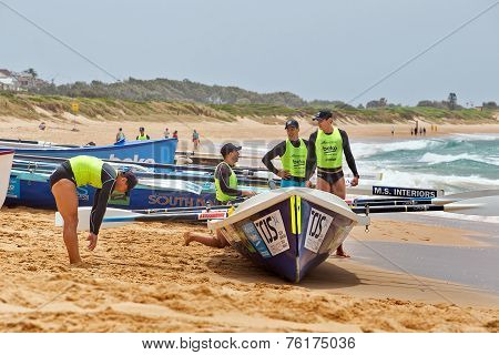 Ocean Thunder surf boat rowing comp