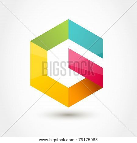 Vector Logo Design Template. Colorful Hexagon Infinity Loop Shape, Business Technology Abstract Symb