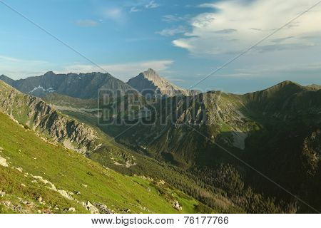 Tatra Mountains at dusk