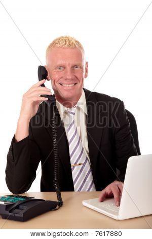 Successful Businessman Phone