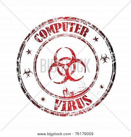 Computer virus rubber stamp