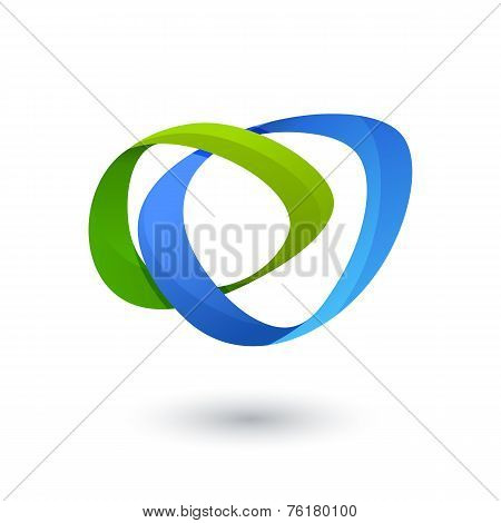 Vector Logo Design Template. Colorful Ribbon Infinity Loop Shape, Business Technology Abstract Symbo