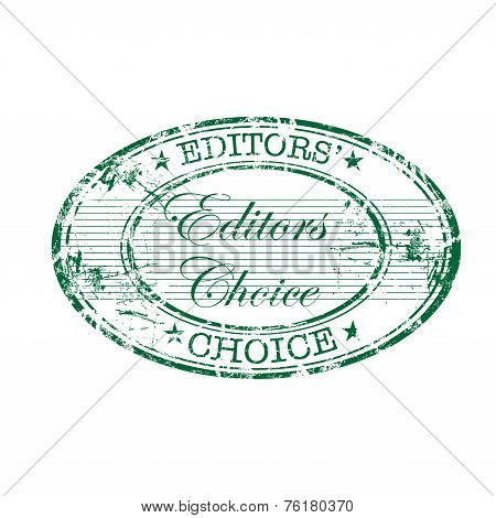 Editors choice grunge rubber stamp