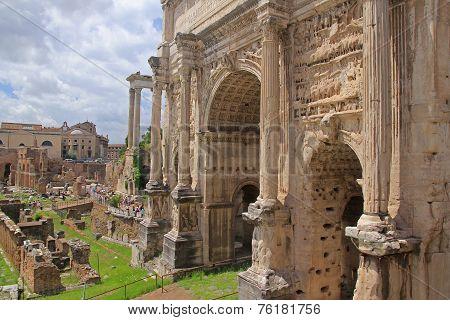 Forum Romanum In Roma Italy