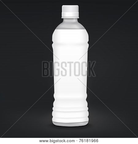 Plastic Bottle With Blank Label