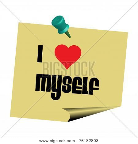 I love myself note