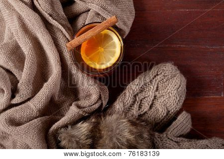 Hot Beverage With Lemon And Cinnamon