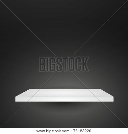 Blank White Shelve