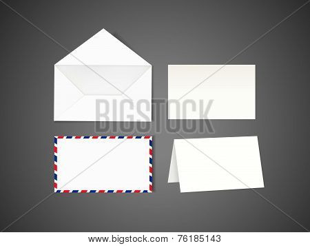 Blank Envelope And Letter