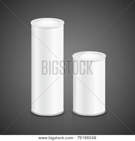 Blank Aluminum Can Set Template