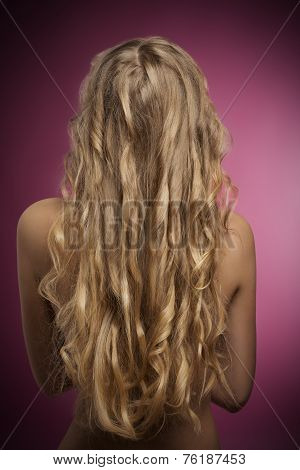 Female With Long Blonde Hair