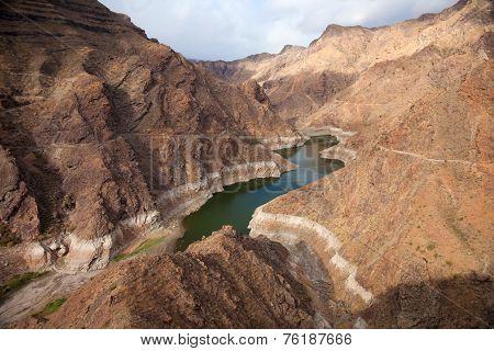 Gran Canaria, Barranco De Aldea, Dam Presa De Parrarillo