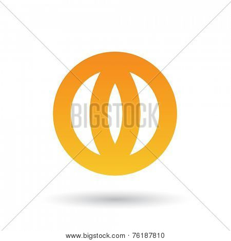 Orange Abstract Icon Illustration isolated on a white background
