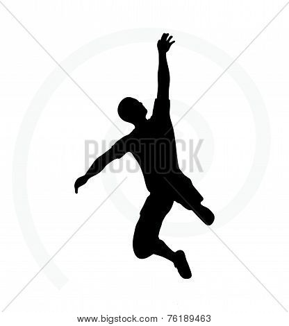 Man Silhouette Isolated On White Background