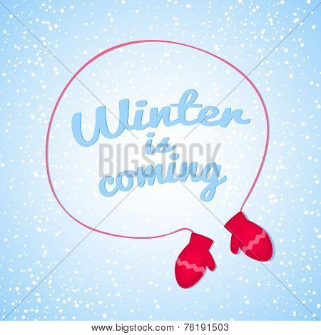 Winter is coming vector illustration