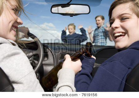 Kids Crossing Front Dar Drinking