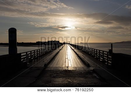 Bull Bridge Is A Wooden Bridge At Dollymount