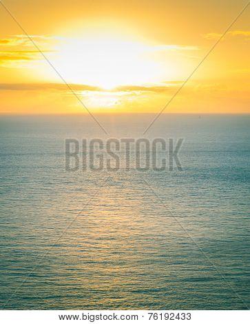 Irish Sea At Golden Hour