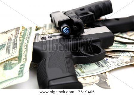 Handguns And Cash