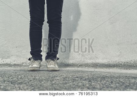 Female Legs On The Street