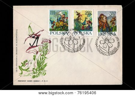 fairytale envelope and stamps