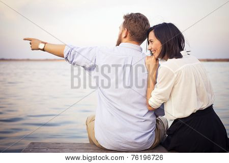 Beautiful Hipster Couple In Love On A Date
