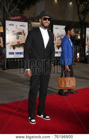 LOS ANGELES - NOV 3:  Swizz Beatz at the Dumb and Dumber To Premiere at the Village Theater on November 3, 2014 in Los Angeles, CA