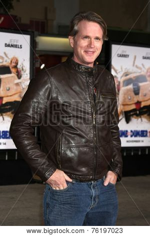 LOS ANGELES - NOV 3:  Cary Elwes at the Dumb and Dumber To Premiere at the Village Theater on November 3, 2014 in Los Angeles, CA