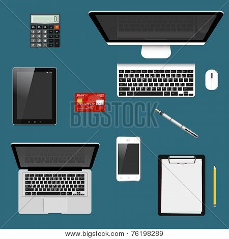 Modern detailed icons collection with trendy colors for e-business, web sites, mobile applications, banners, corporate brochures, book covers, layouts etc. Vector eps10 illustration