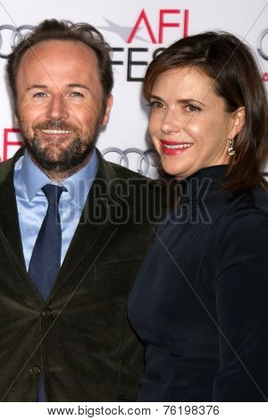 LOS ANGELES - NOV 10:  Rupert Wyatt, Erica Beeney at the