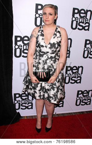 LOS ANGELES - NOV 11:  Lena Dunham at the PEN Center USA 24th Annual Literary Awards at the Beverly Wilshire Hotel on November 11, 2014 in Beverly Hills, CA