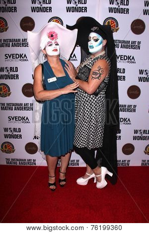 LOS ANGELES - NOV 13:  Sister Leigh Viticus, Sister Indica at the The Instagram Art of Mathu Andersen at the World of Wonder Gallery on November 13, 2014 in Los Angeles, CA