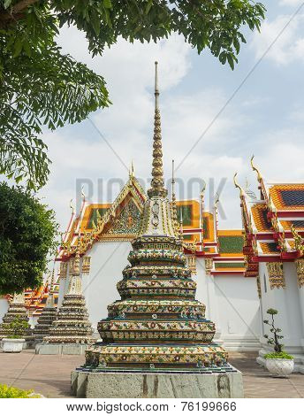 The grand royal palace and Temple of the Emerald Buddha in Bangkok, Thailand