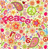 stock photo of hippy  - Hippie wallpaper - JPG