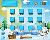 picture of christmas theme  - Snow and Christmas themed game elements - JPG