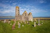 stock photo of tourist-spot  - St Magnus Church on the Island of Egilsay - JPG