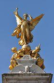 Golden Angel Memorial Statue In London Uk
