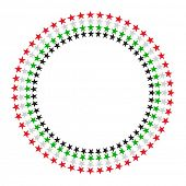 stock photo of emirates  - A vector round border made with United Arab Emirates flag colours and star graphic - JPG